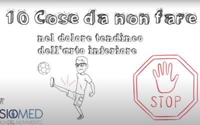 10 cose da non fare se soffri di dolore tendineo all'arto inferiore